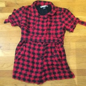 Thread Hot Topic Red/Black Plaid Top